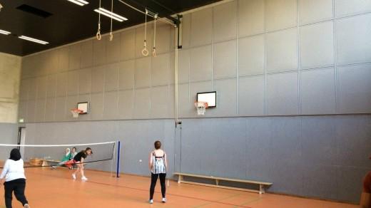 Sporthalle 02 - Schallabsorbierende Wandverkleidungen